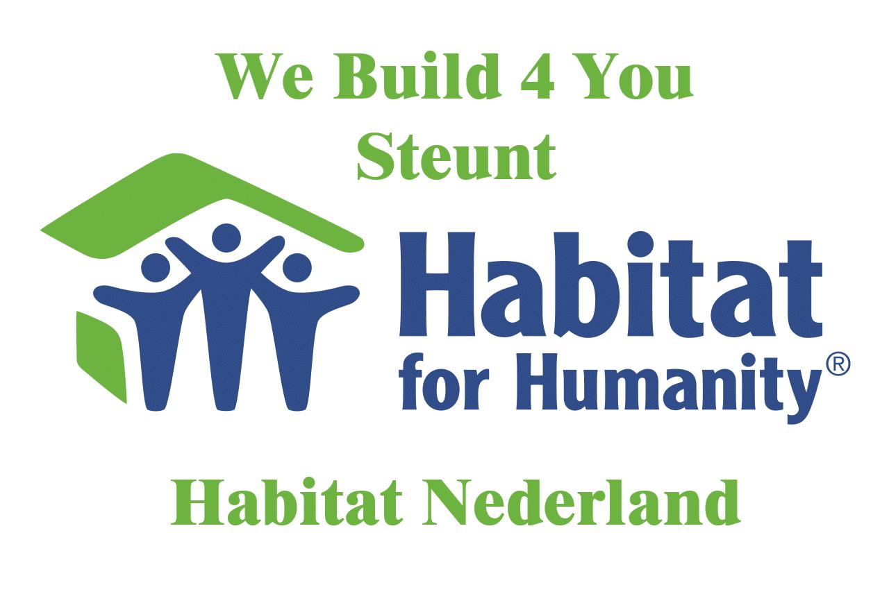 We Build 4 You steunt Habitat