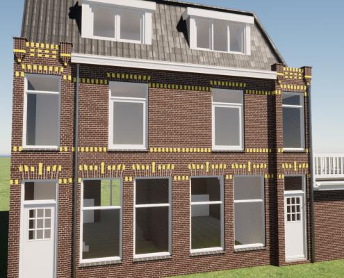 Bouwtekening dakopbouw